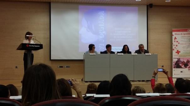 De izquierda a derecha: Dña. Sonia Tirado, D. Antonio Navarro, Dña. María José Espuch Sbovoda y D. Antonio Reus