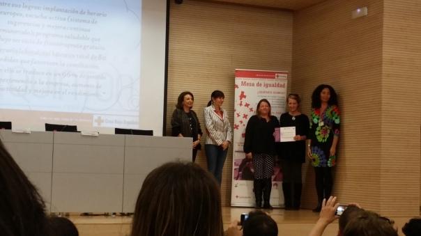 De izquierda a derecha: Dña Remedios Alarcón, Dña. Mercedes Alonso, Dña. Cecilia Coll y Dña. Yira Labrador